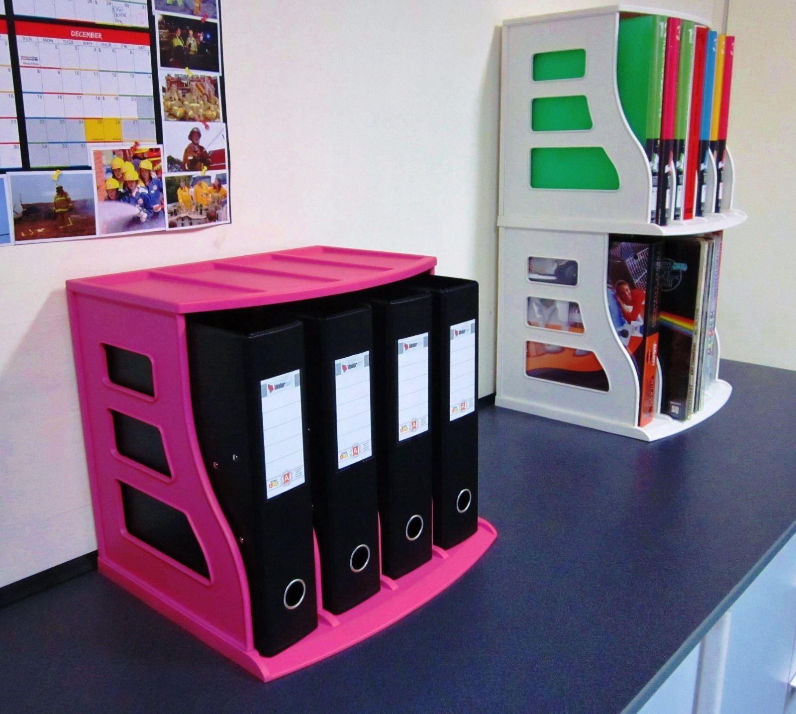 1 Pink Binder Way Lever Arch Files Binders Folders Office Storage