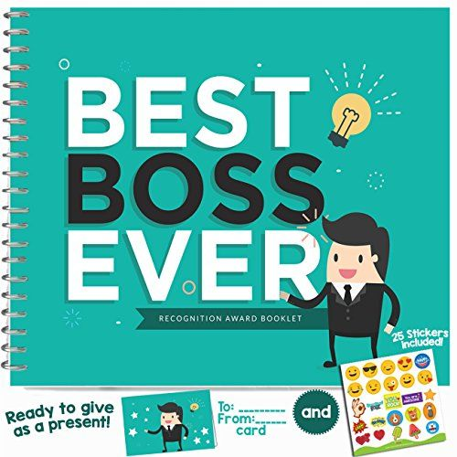BEST BOSS EVER APPRECIATION GIFT Recognition Award Booklet Birthday