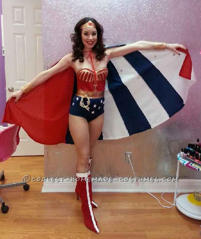 Coolest Homemade Wonder Woman Costume  Sexy Halloween -1662