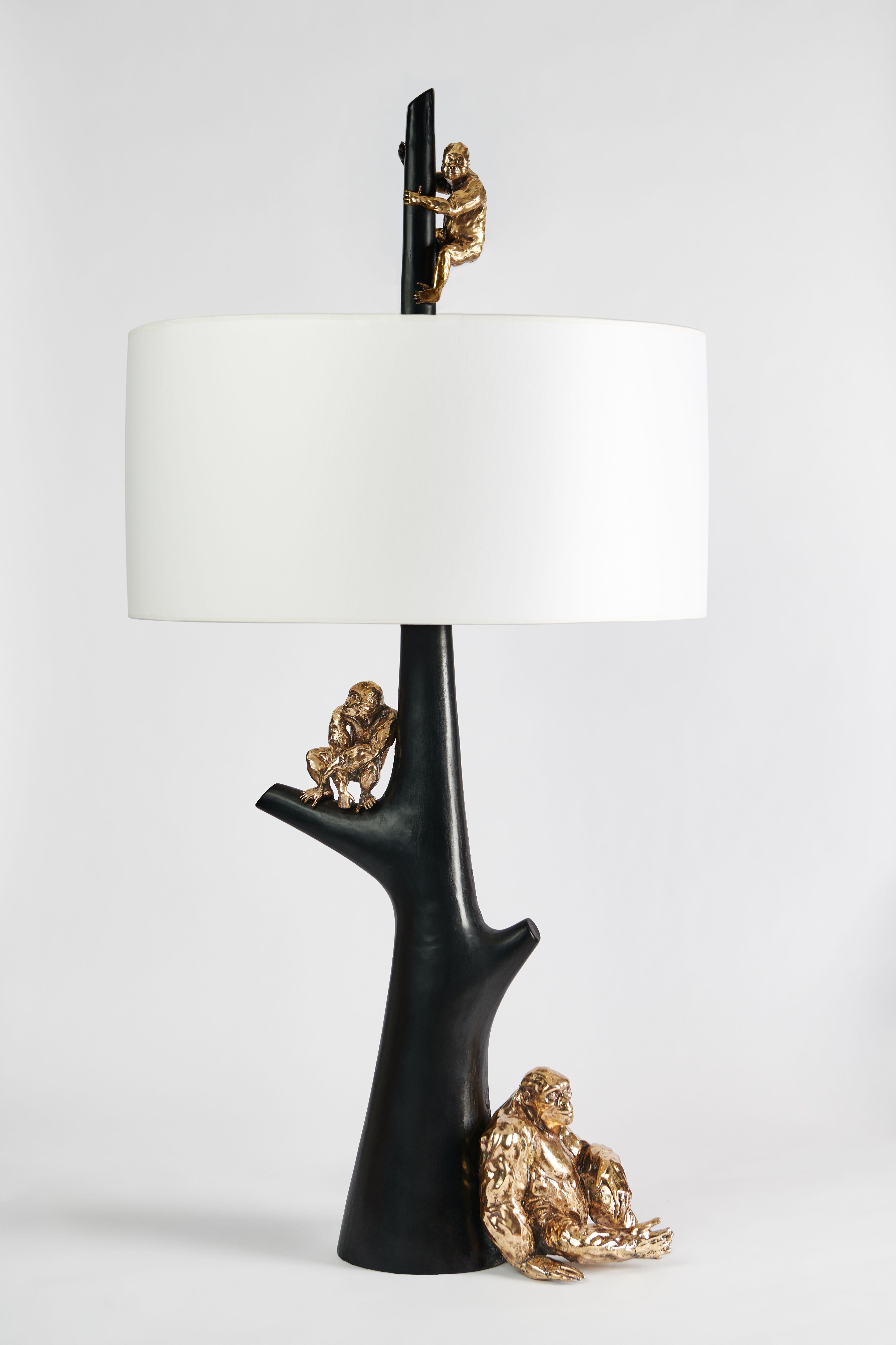 Sculptural Bronze Table Lamp Bases