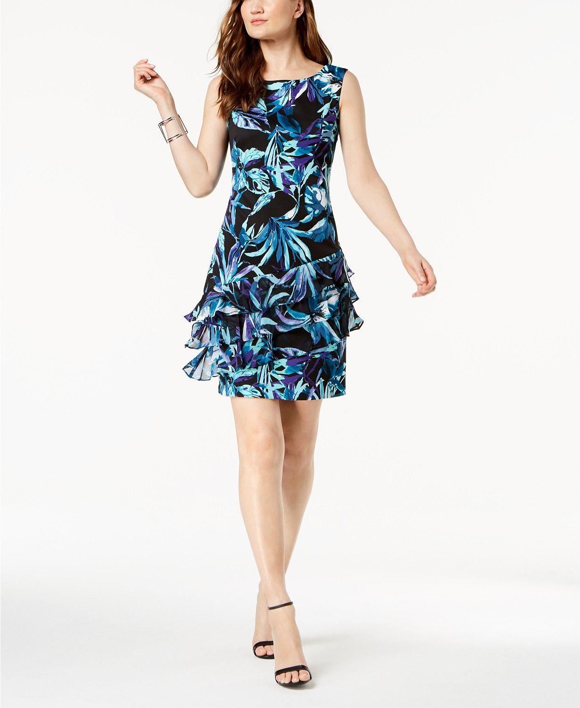 39261d84edb Connected Floral-Print Ruffled A-Line Dress - Dresses - Women - Macy s