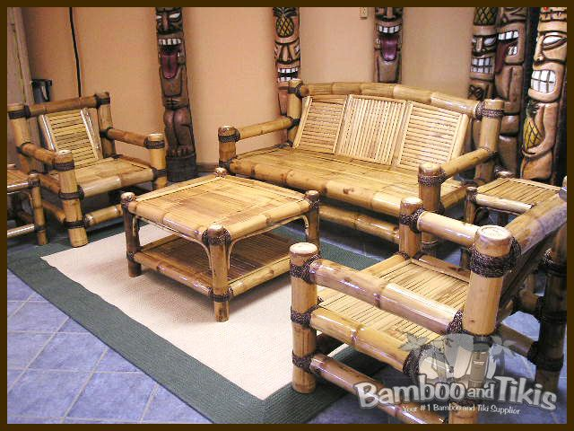 made of bamboo for interior design   Living room sets ...