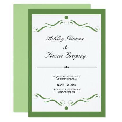 Simple Elegant Wedding Invitation Invitations Weddings And Cards