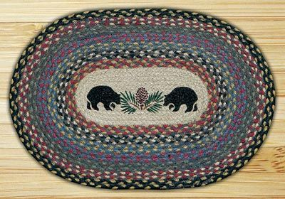 Black Bears Braided Placemat By Capitol Earth Rugs Made
