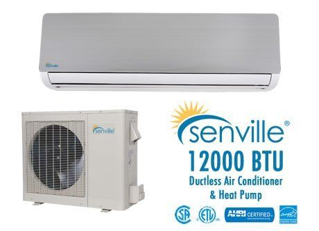 Senville 12000 Btu Ductless Air Conditioner And Heat Pump Energy Star By Senville 1099 99 Free Instal Ductless Air Conditioner Ductless Heat Pump System