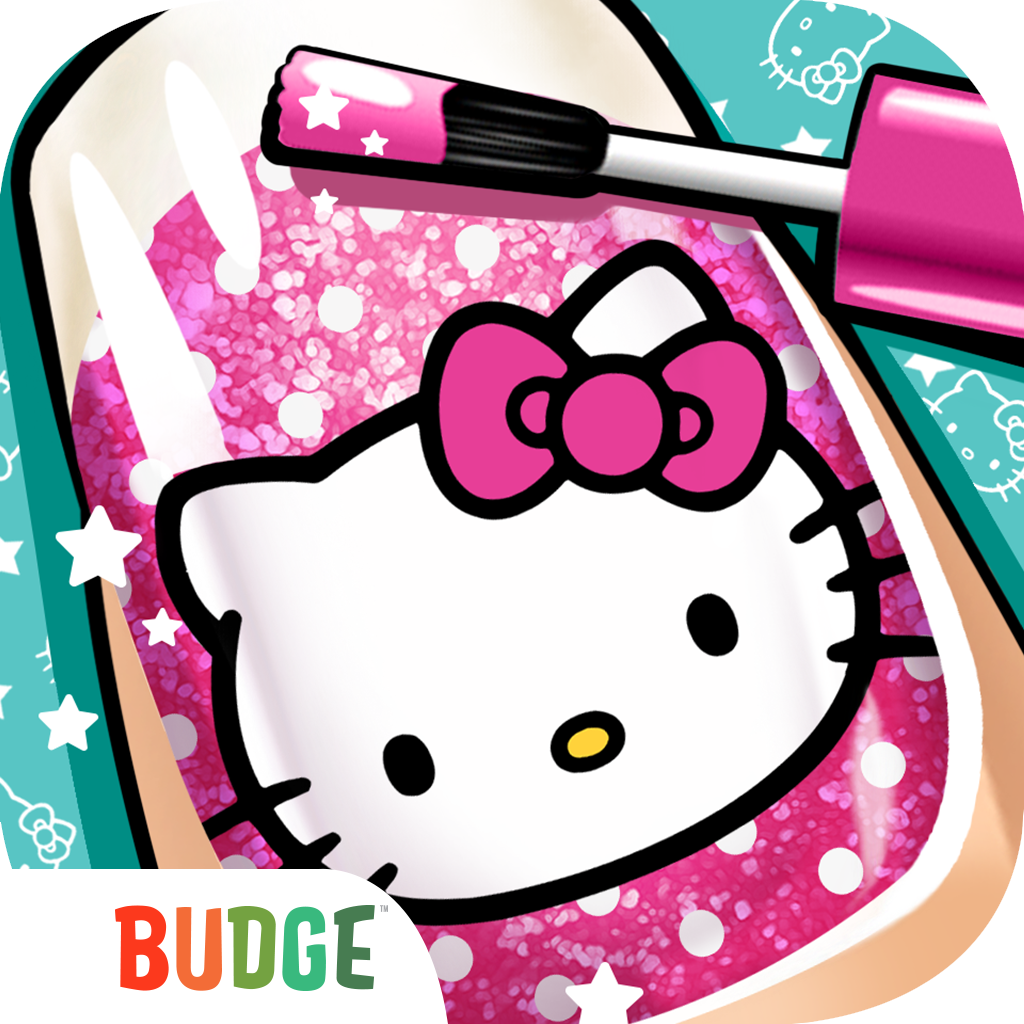 Hello Kitty Nail Salon Kids App Kids can choose to test their nail ...