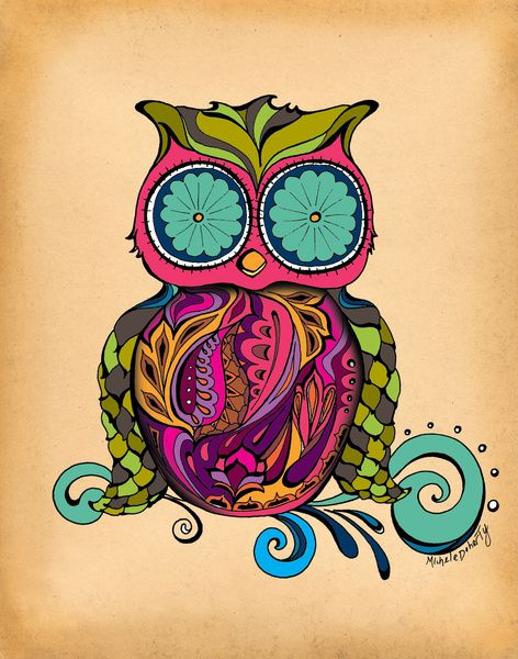 Owl Stretched Canvas by Green Girl Canvas | Society6