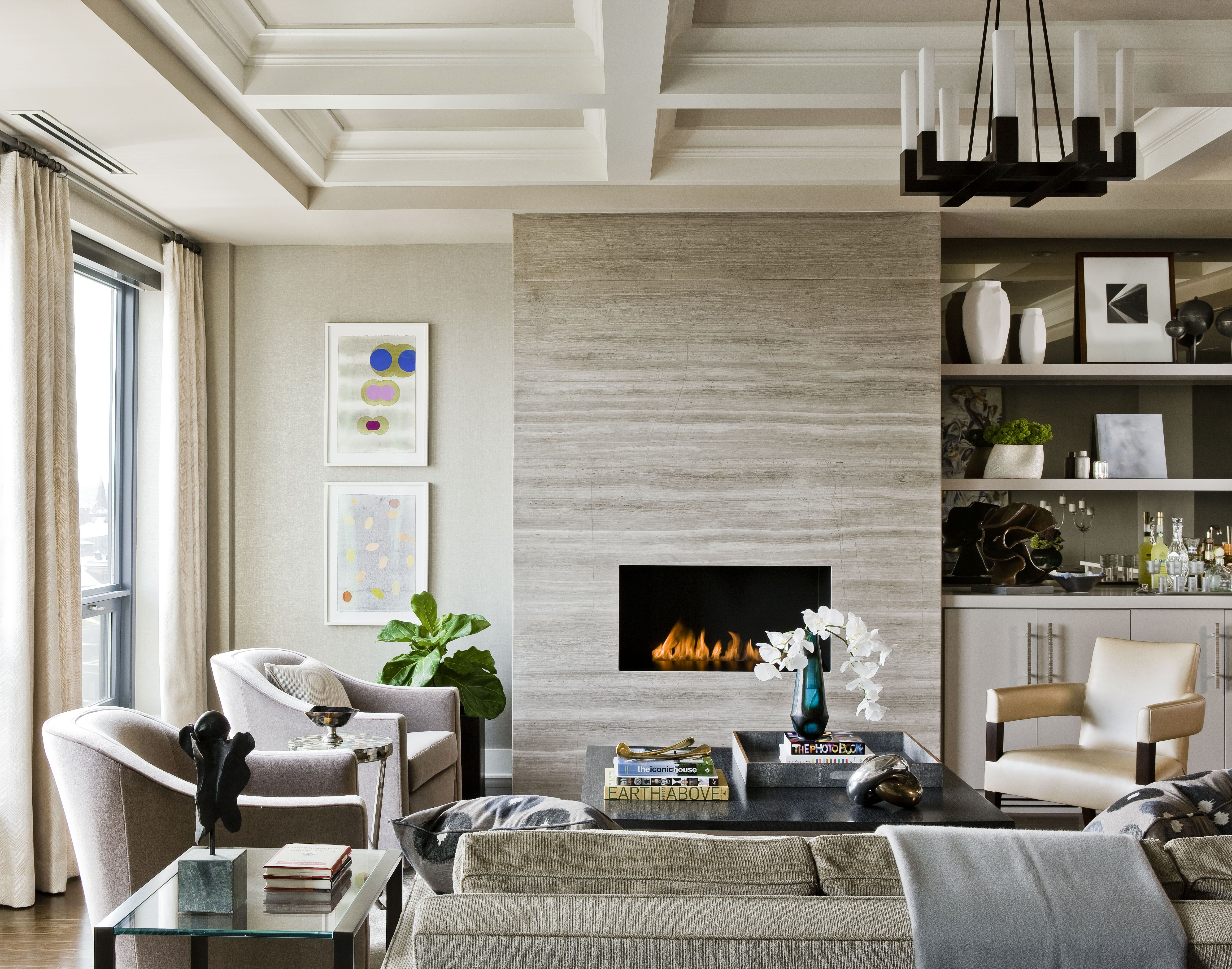 Fireplace Surround: Stone Slabs