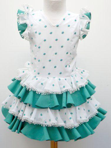 Traje De Gitana Para Niña Vestido Flamenco Niña Vestidos Para Niñas Traje Flamenca Niña