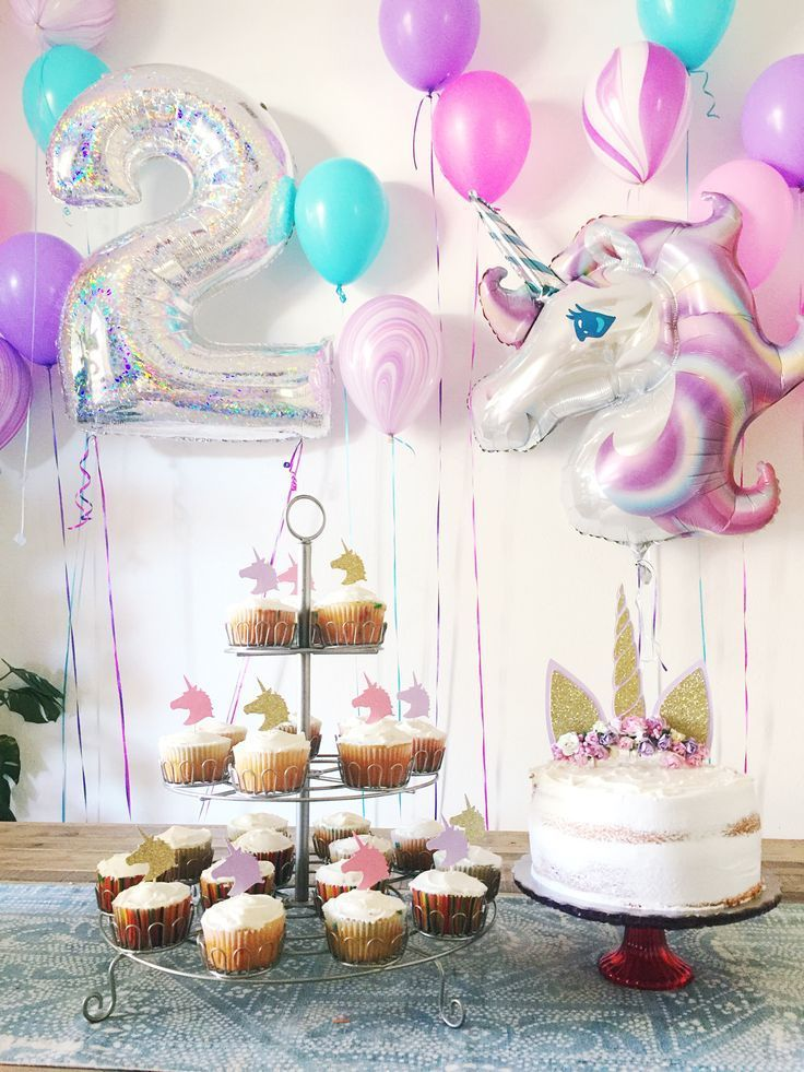 2 year old Unicorn Birthday Party Girls birthday party