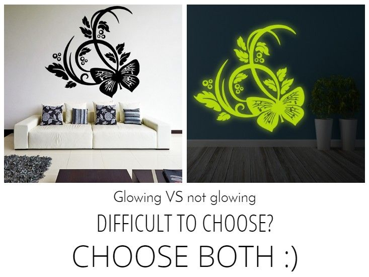 Glowing or not glowing?🤔   #glowingvynilstickers #glowingstickers#wallstickers #vynilstickers #stickersforhome #homedecoration #homedesign #homedesignideas #homedecoration #interior #interiordesignideas #interiordesigninspiration #customstickers #customdecals