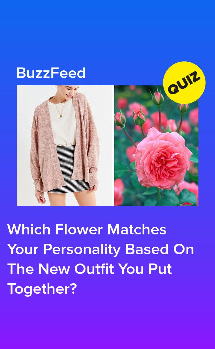 Buy a new outfit and well tell you which flower matches