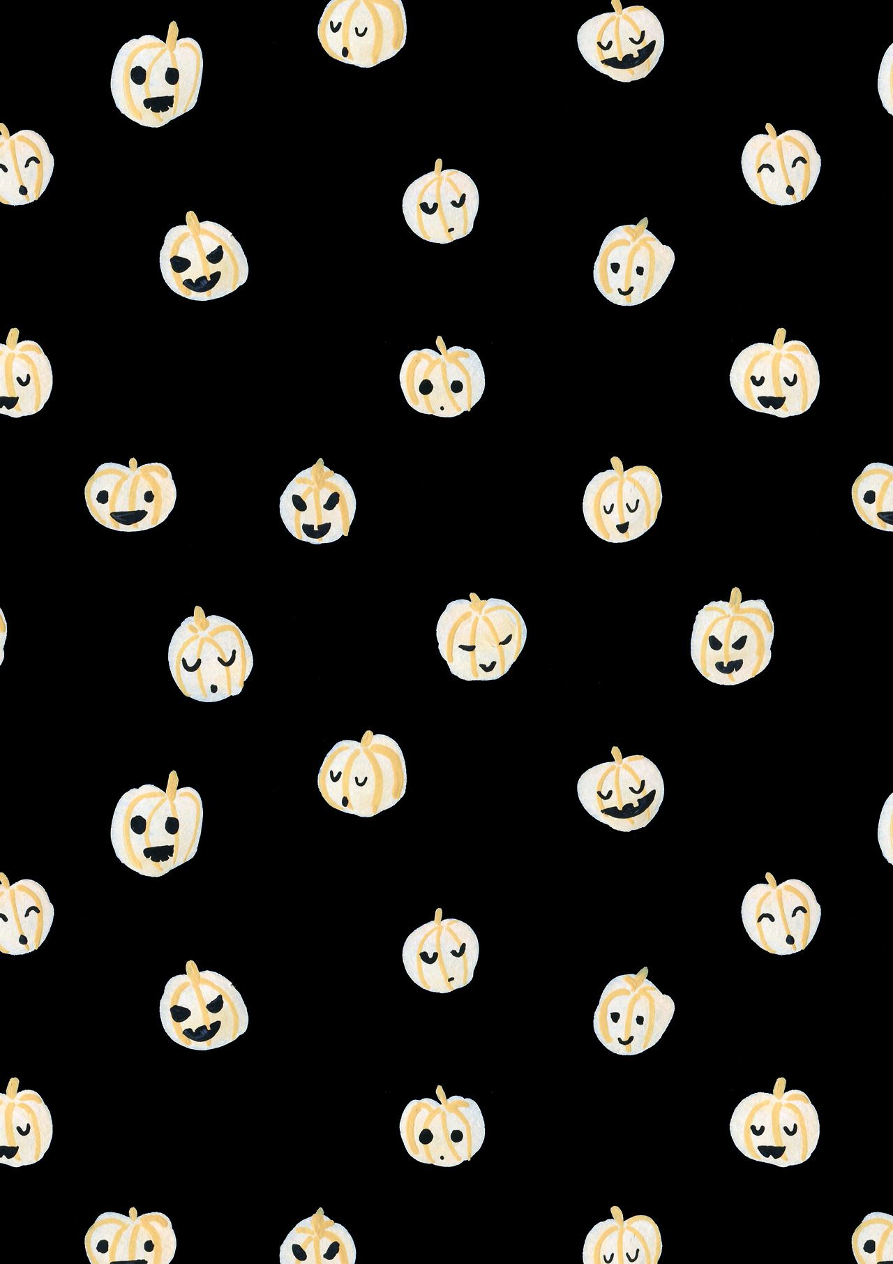 Autumn / Fall / Halloween cute pumpkin pattern design