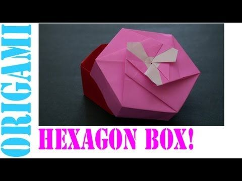 Origami Hexagonal Gift Box Tutorial (Non Modular) - DIY - Paper ... | 360x480