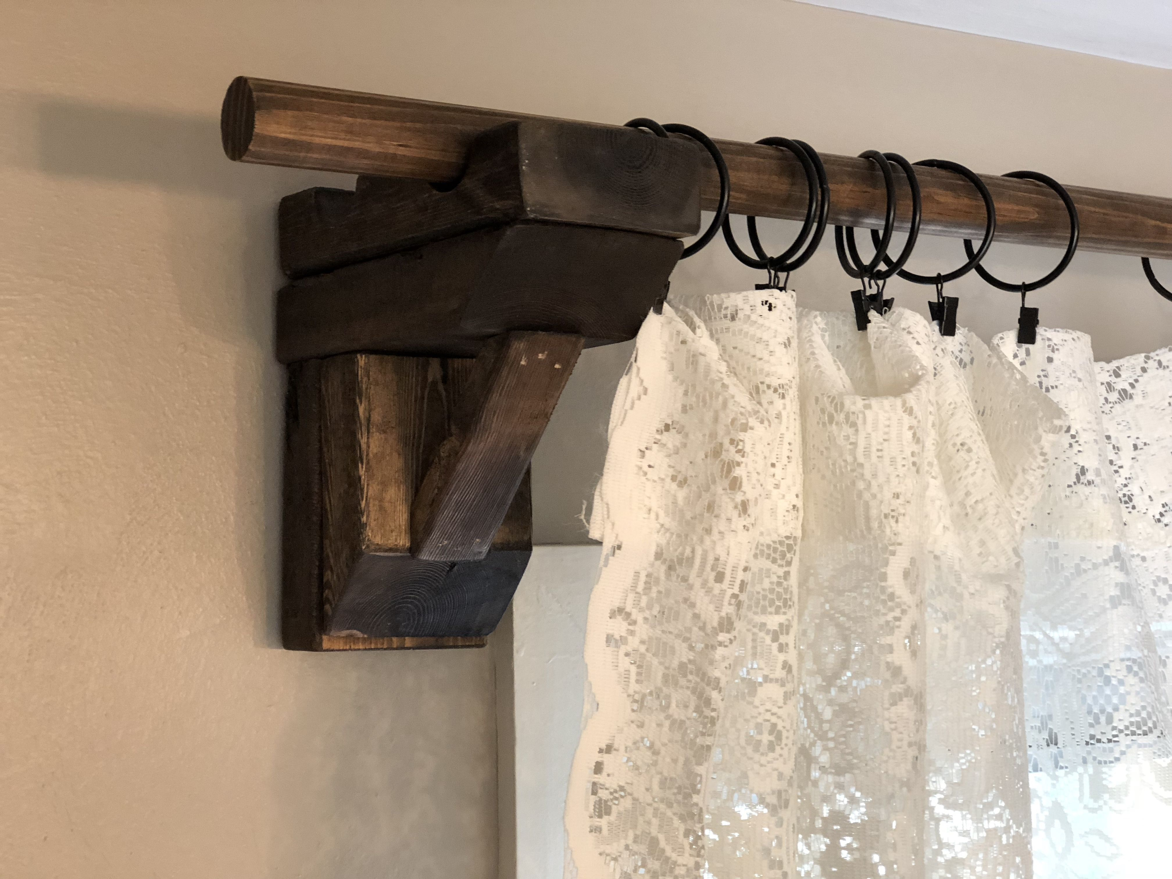 Diy Rustic Chunky Corbel Curtain Rod Holders A Moment Of