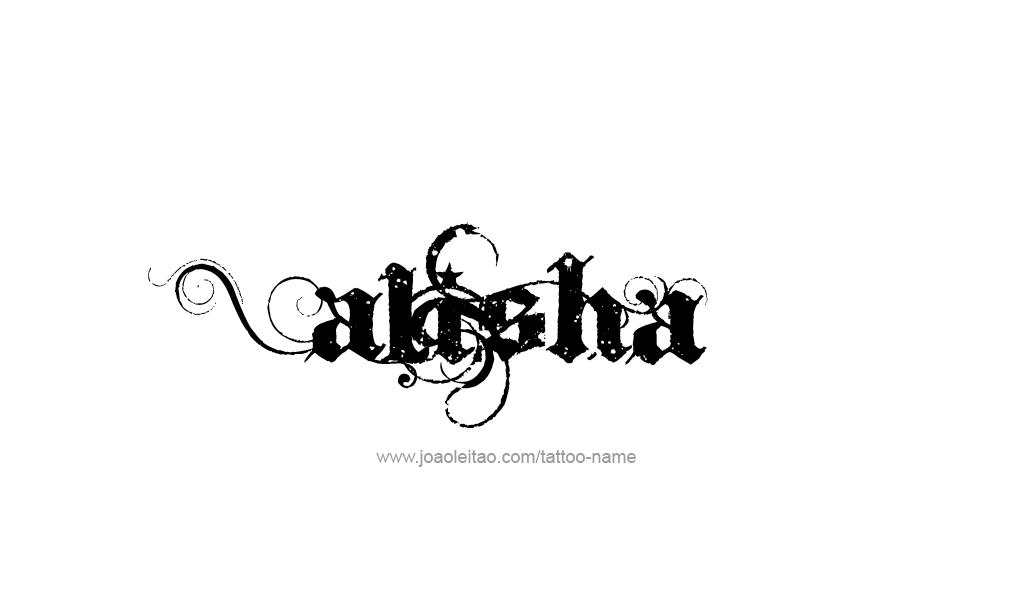 Alisha Name Tattoo Designs Name Tattoos Name Tattoo Tattoo Designs