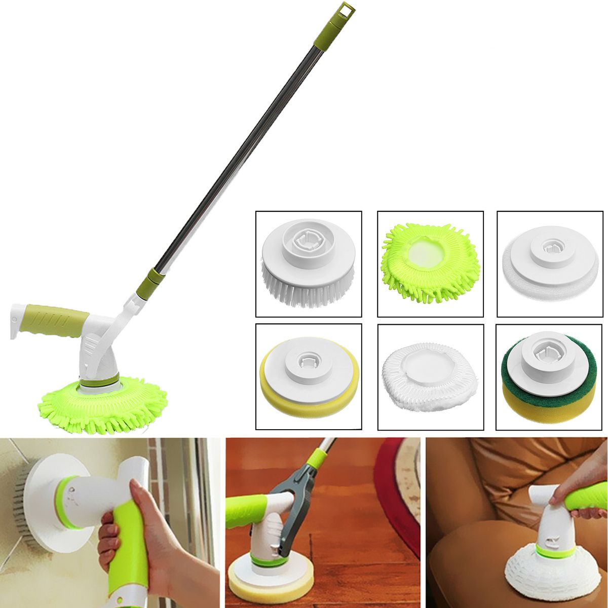 Automatic Electric Cleaning Brushes Rechargeable Cordless Power - Electric bathroom cleaning brush