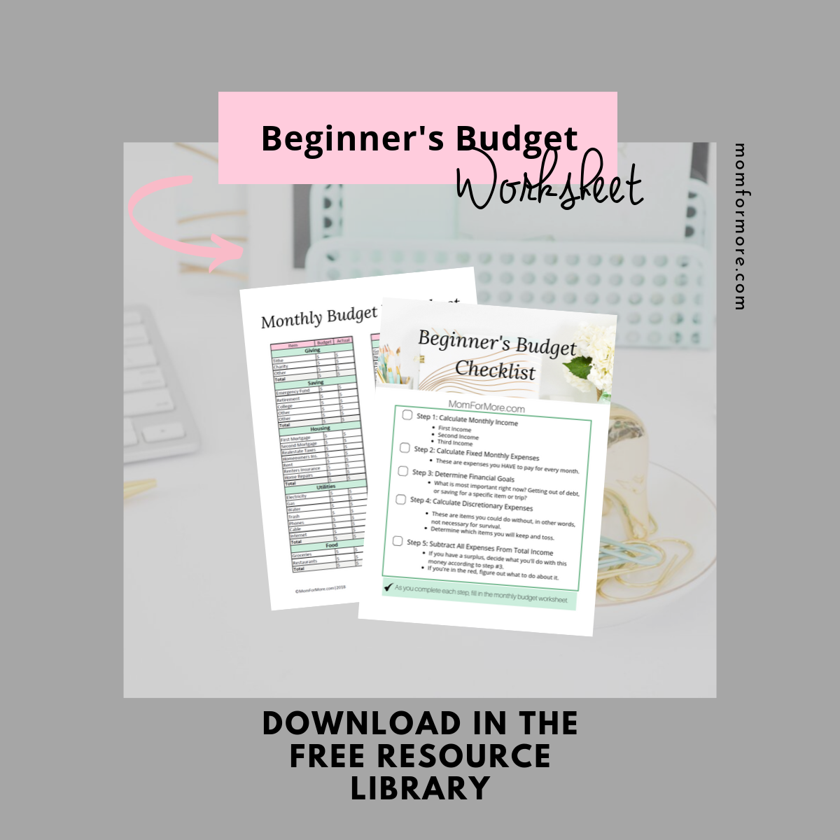 Free Budget Worksheets For Beginners And More Budget