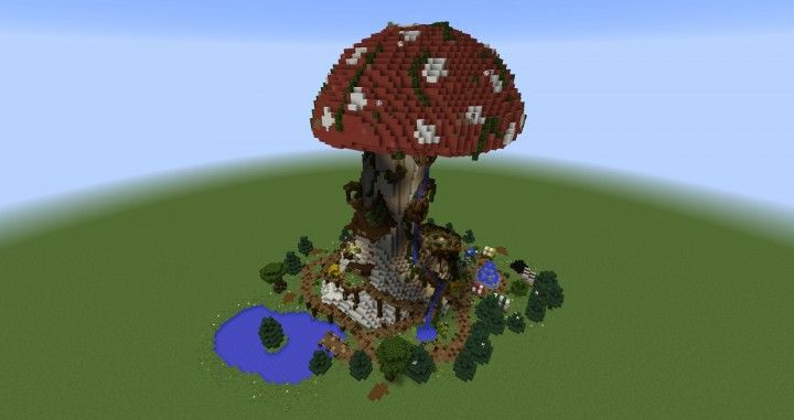 Giant Fantasy Mushroom minecraft building ideas download