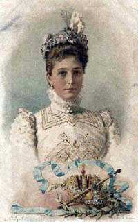1901 Tsaritsa Alexandra in day dress