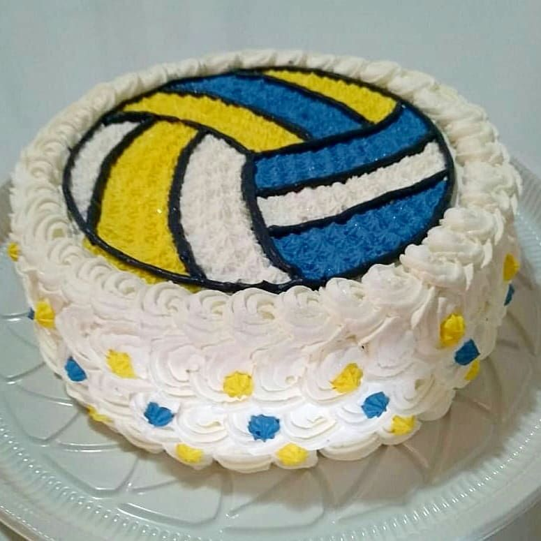 Prime Volleyball Cake With Images Volleyball Cakes Volleyball Personalised Birthday Cards Beptaeletsinfo