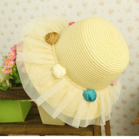 Princess fisherman straw sun hat. Don't think I'd use the tulle, though.