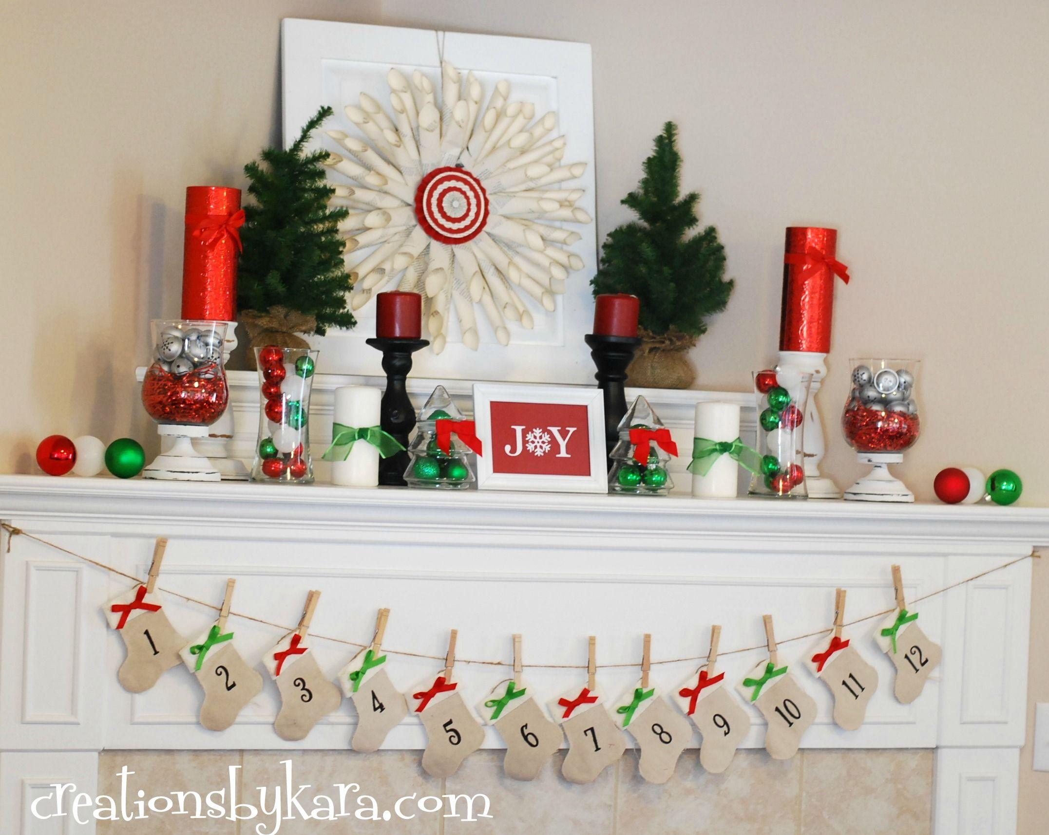 Top 40 Christmas Mantelpiece Decorations Ideas   Christmas mantels ...