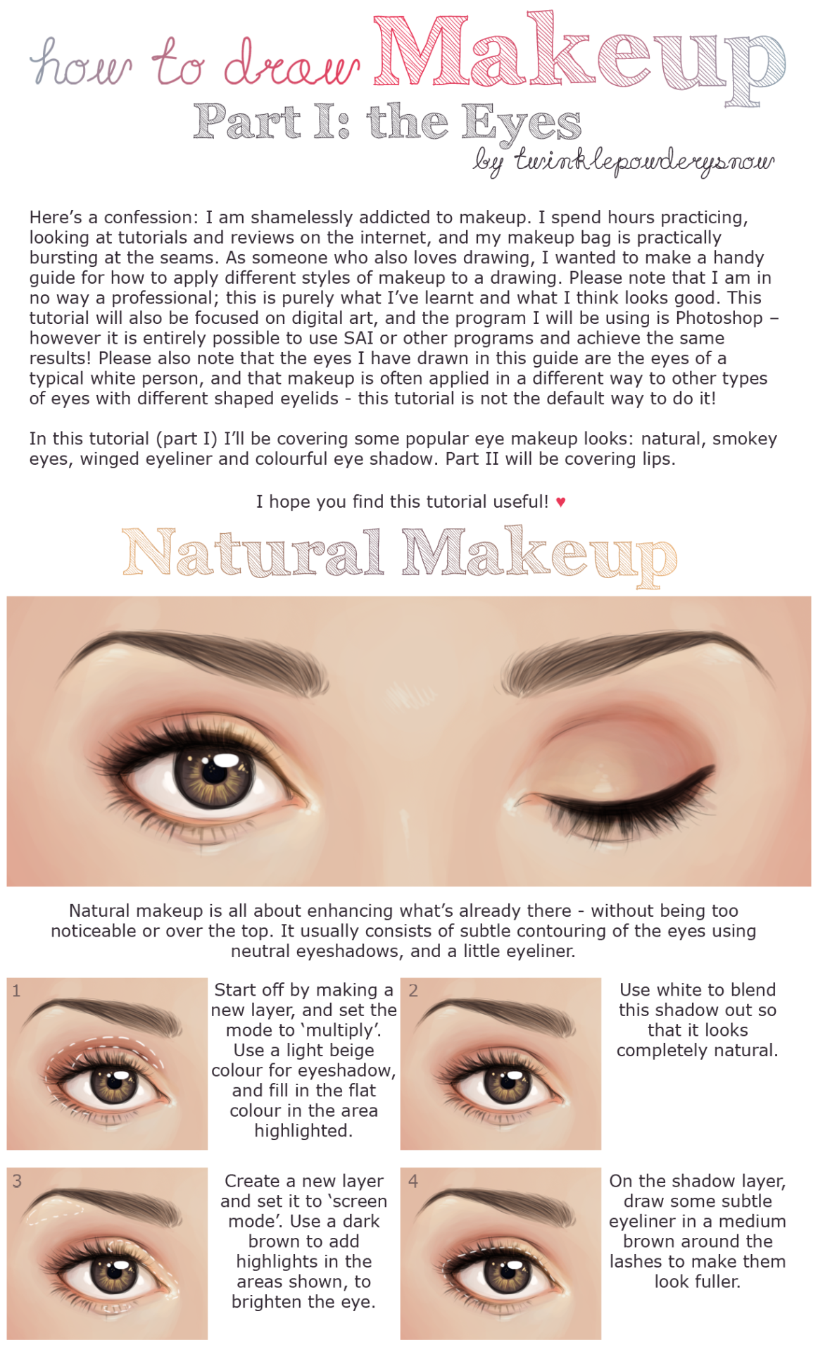 twinklepowderysnow:click here for full resolution!!alrighty here's my guide to drawing eye makeup! hope y'all find it useful and stay tuned for a guide to drawing lipstick ovo