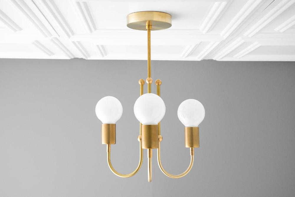 Chandelier - Matte Black - Art Deco - Ceiling Lighting ...