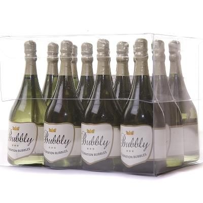 12 X Gold Head Dark Green Bottle Celebration Bubbles These Bottles Are Tall And The Perfect Size For Individual Place Settings On A Party Table