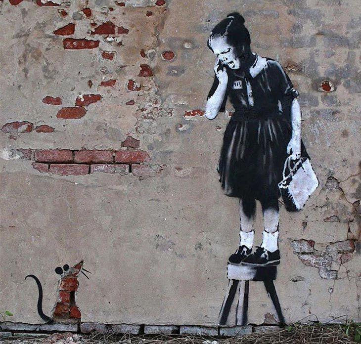 Banksy Nin 189 Duvar Resmi Grafitisi Ve Sokak Sanati Banksy Banksy Graffiti Graffiti Art