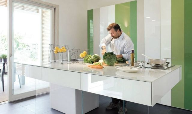 moderne kücheninsel weiß hochglanz glas 36e8 lago Küchen - küchenzeile weiß hochglanz