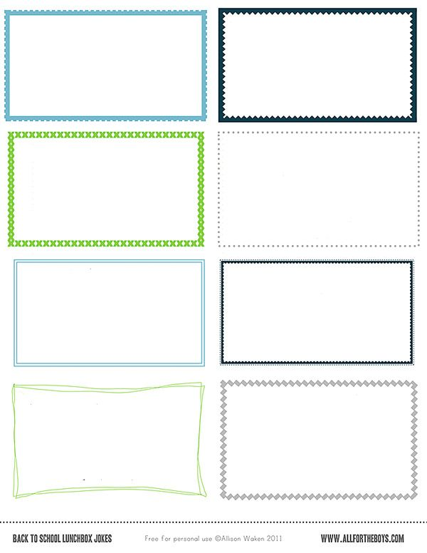 Free Printable School Lunch Notes Jokes All For The Boys Lunch Notes School Lunch Notes Printable Lunch Box Notes