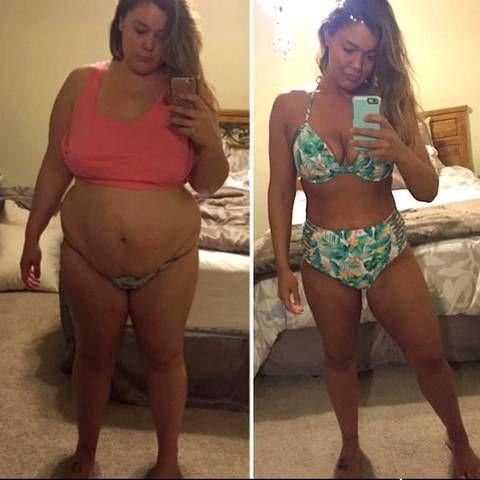Frau nutzt Selfies zum Abnehmen