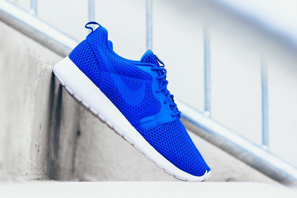 nike roshe one hyperfuse - racer blue/black material