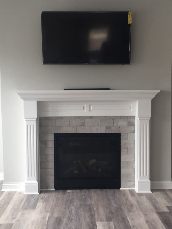 Brickworks Studio 4x8 Tiles Around Fireplace Mantle 1