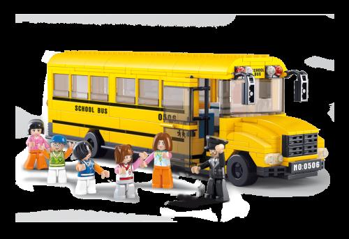 Sluban fra SBDanmark er et godt alternativ til de dyre klodser og er fuld ud kompatibel med mærker som f.eks Lego Stor Skolebus http://www.sbdanmark.dk/index.php/town/large-school-bus-m38-b0506