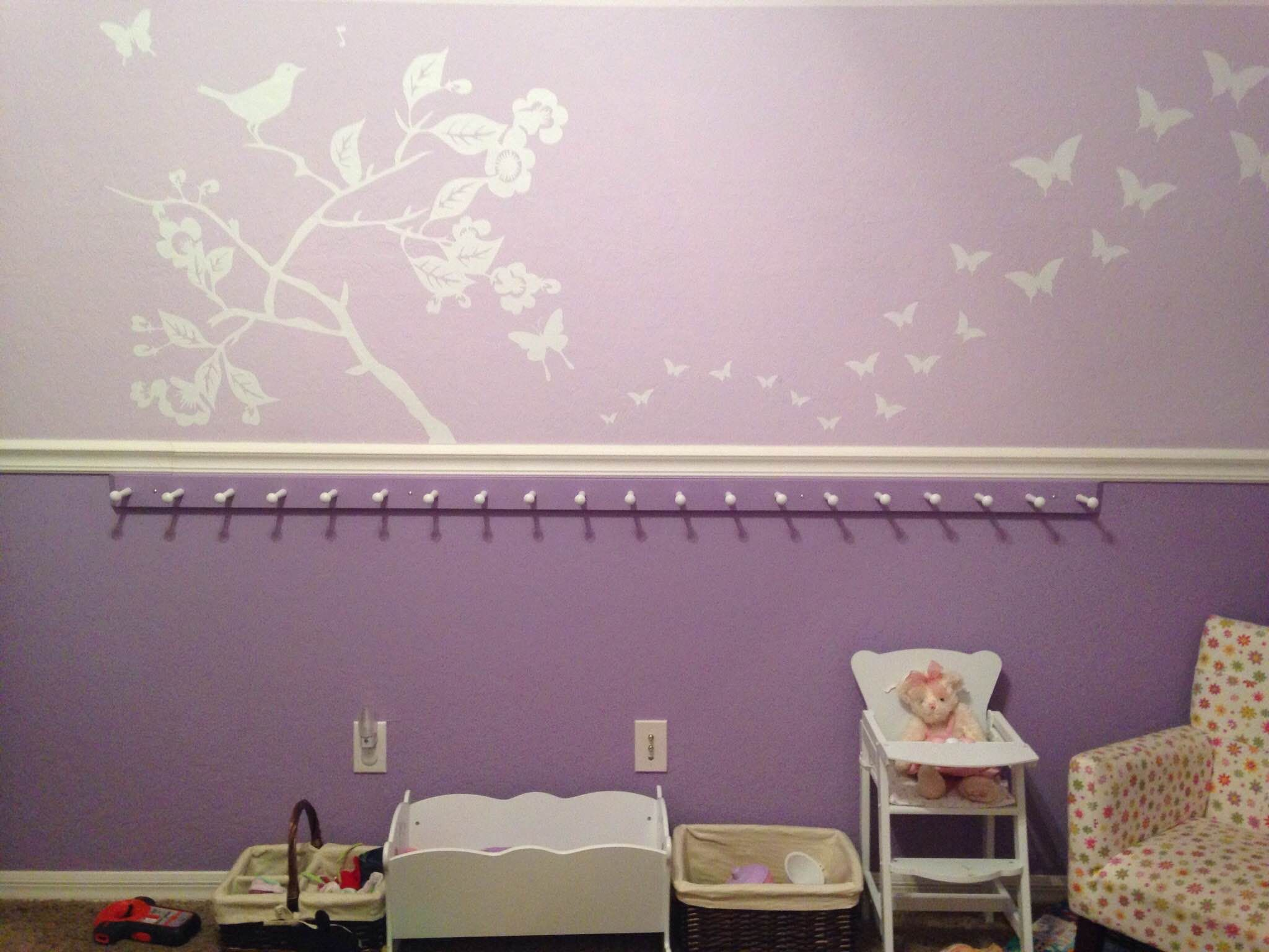 girls room chair rail google search girls bedroom ideas