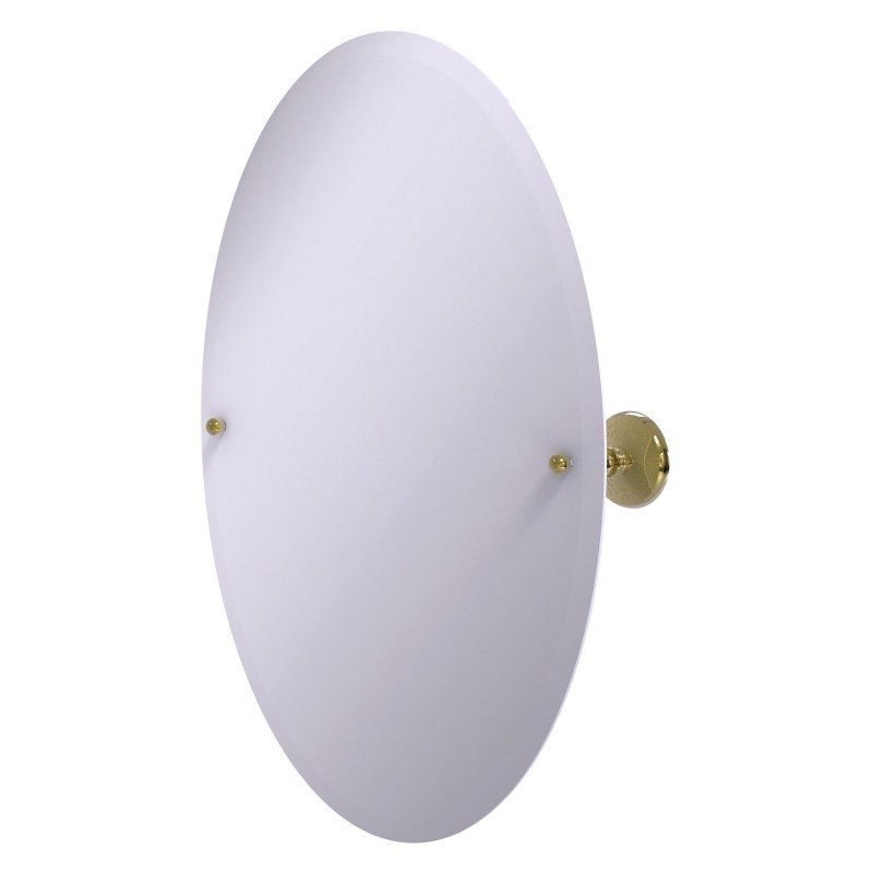 Allied Brass Prestige Monte Carlo Frameless Oval Tilt Beveled Wall Mirror - PMC-91-UNL