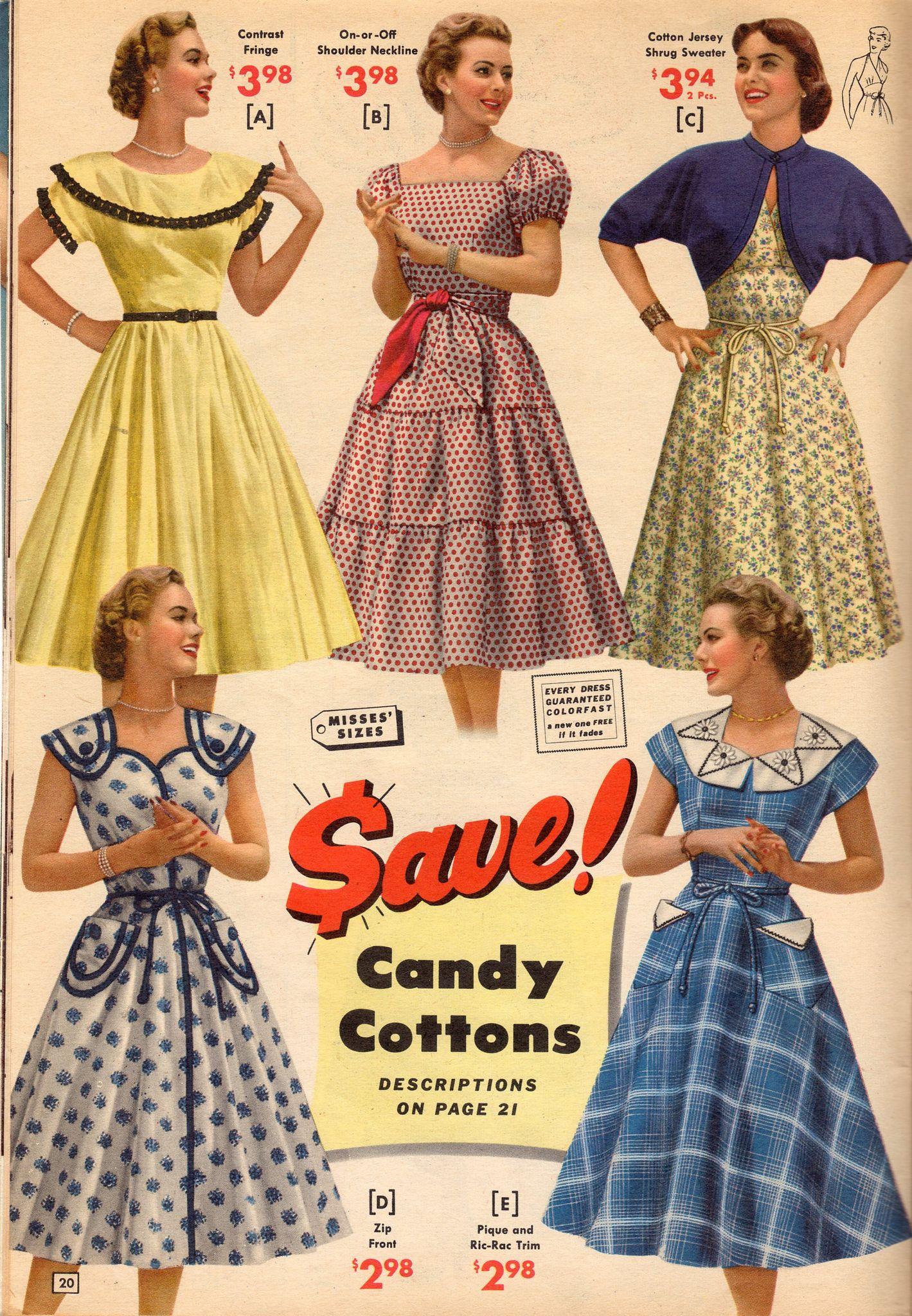 Vintage Année 50 tout nbh 1953 | robe année 50, affiche pub et etre belle