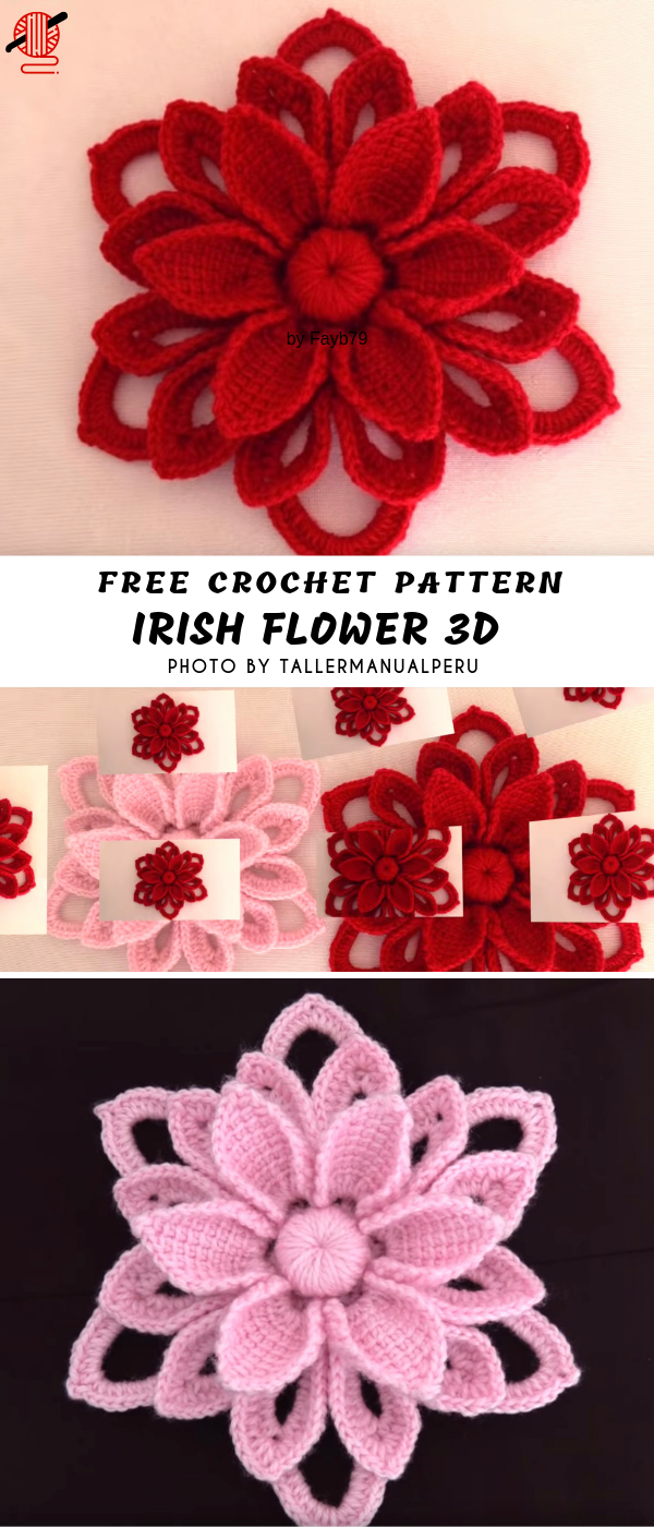 Pattern Center #irishcrochetflowers