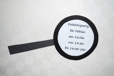 Detektiveinladung | Geburtstag | Detektiv party ...