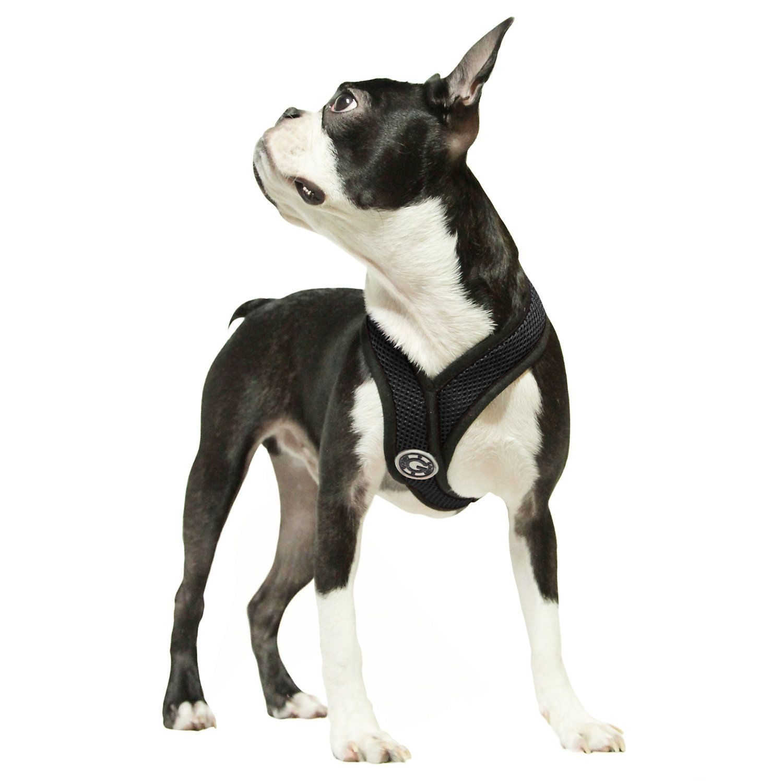 Gooby Choke Free Comfort X Soft Harness Black Large Dog