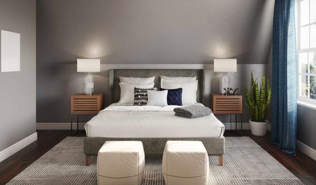 Transitional Bedroom Design #transitionaldecor #bedroom in ...