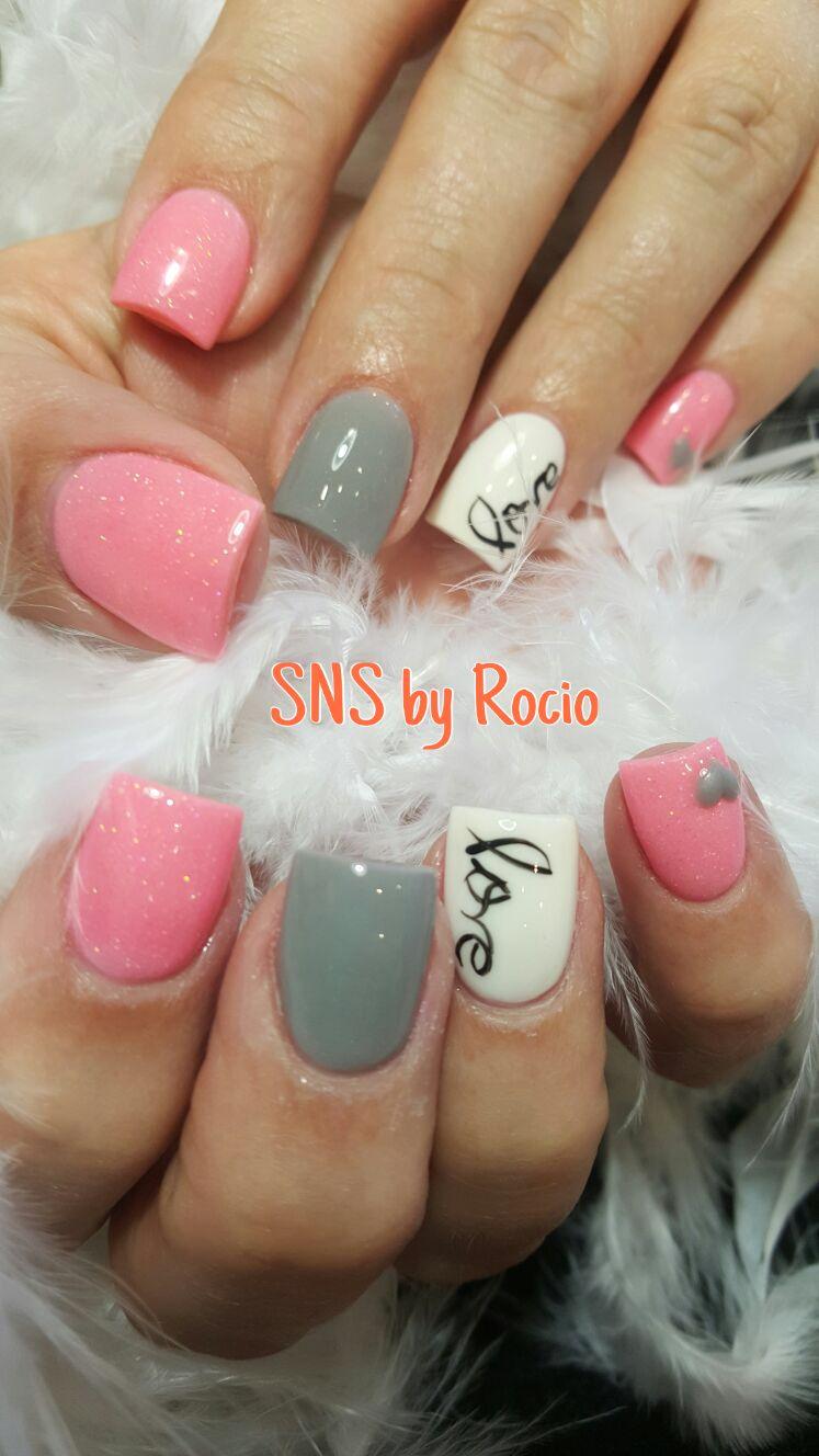 SNS nails in love ❤ | nexgen nails | Pinterest | Sns nails, Nail ...