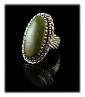 Military Green Royston Turquoise Dinner Ring by John Hartman