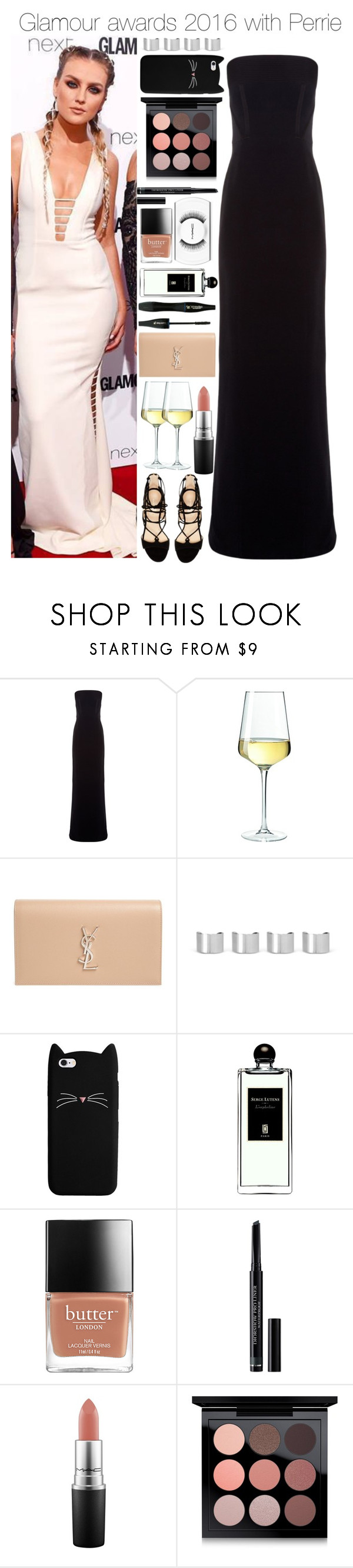 """""""Glamour awards 2016 with Perrie"""" by xhoneymoonavenuex ❤ liked on Polyvore featuring Balenciaga, Marc Fisher, Yves Saint Laurent, Maison Margiela, Lancôme, Serge Lutens, Christian Dior and MAC Cosmetics"""