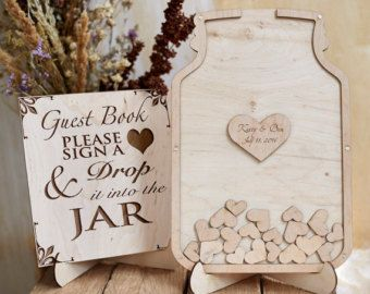 Guest Book Wedding Wooden By Engravedguestbooks