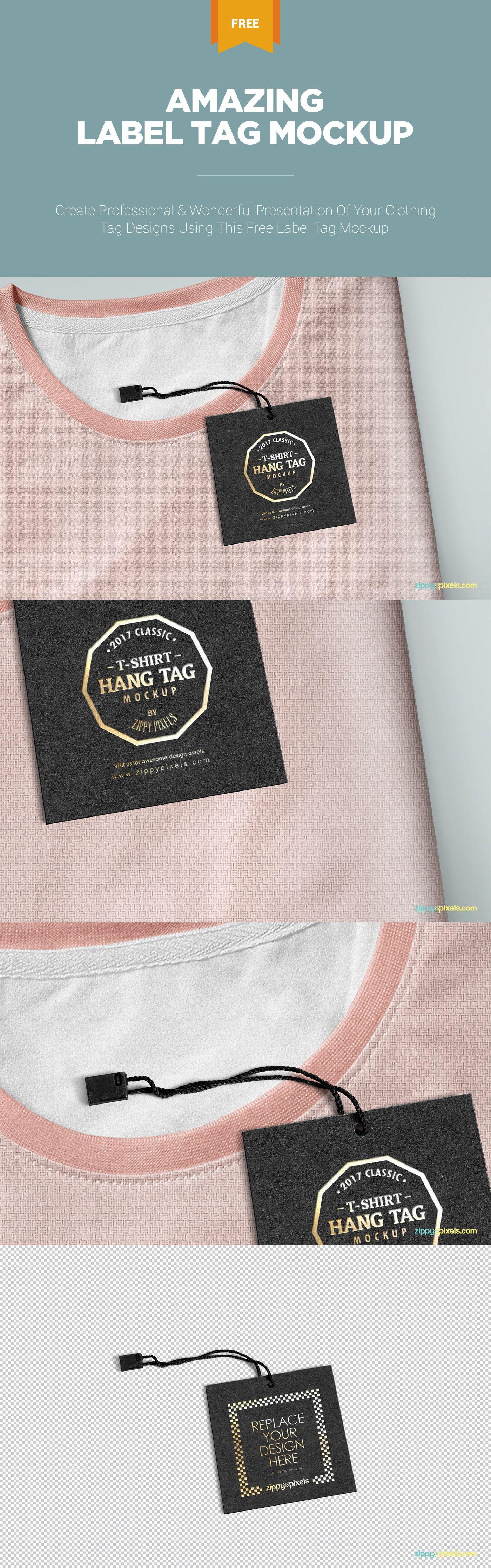 Download Classy Label Tag Mockup Freebie Zippypixels Clothing Mockup Label Tag Tshirt Designs