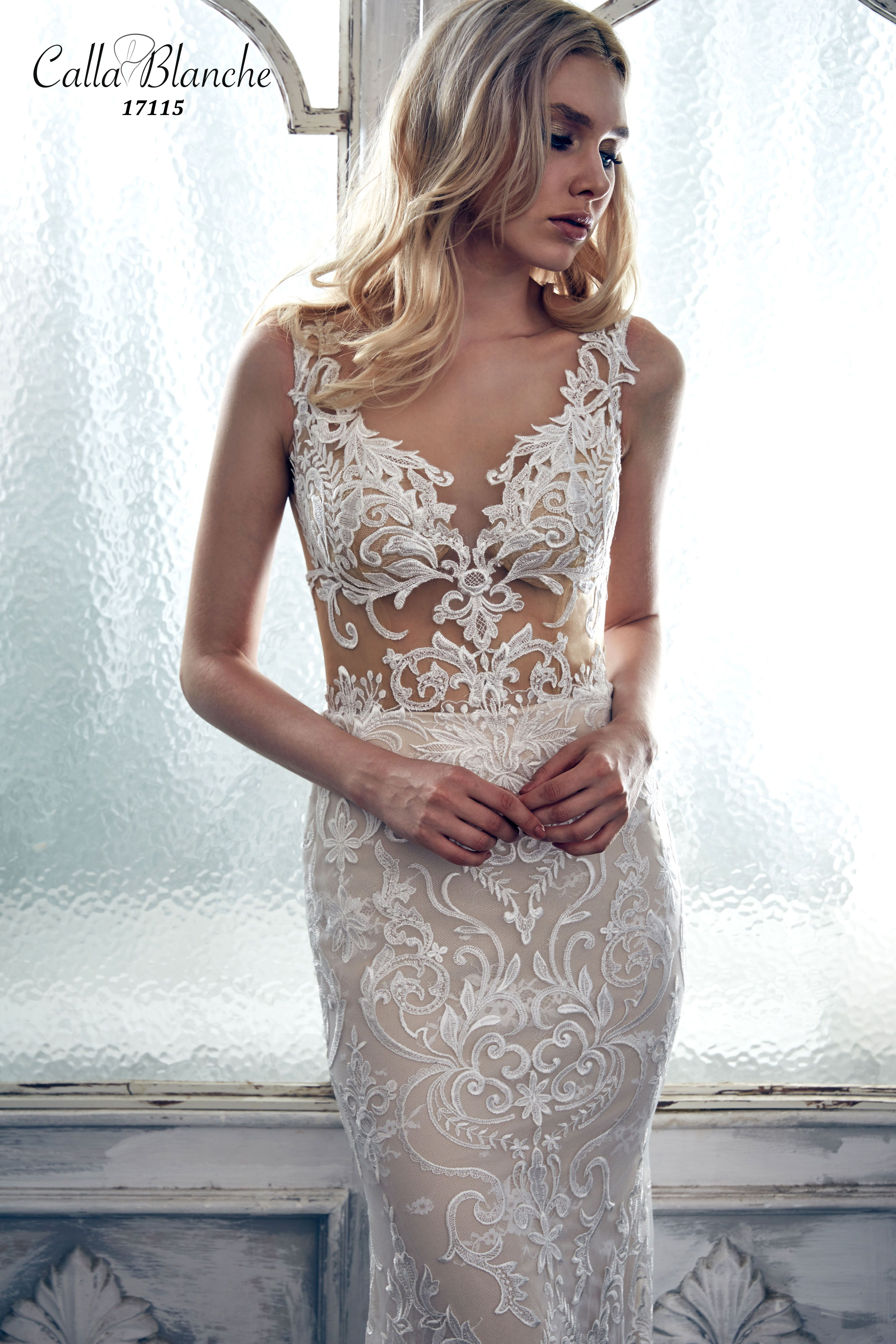 Calla Blanche wedding dress/gown- Rebecca, ivory trumpet style ...